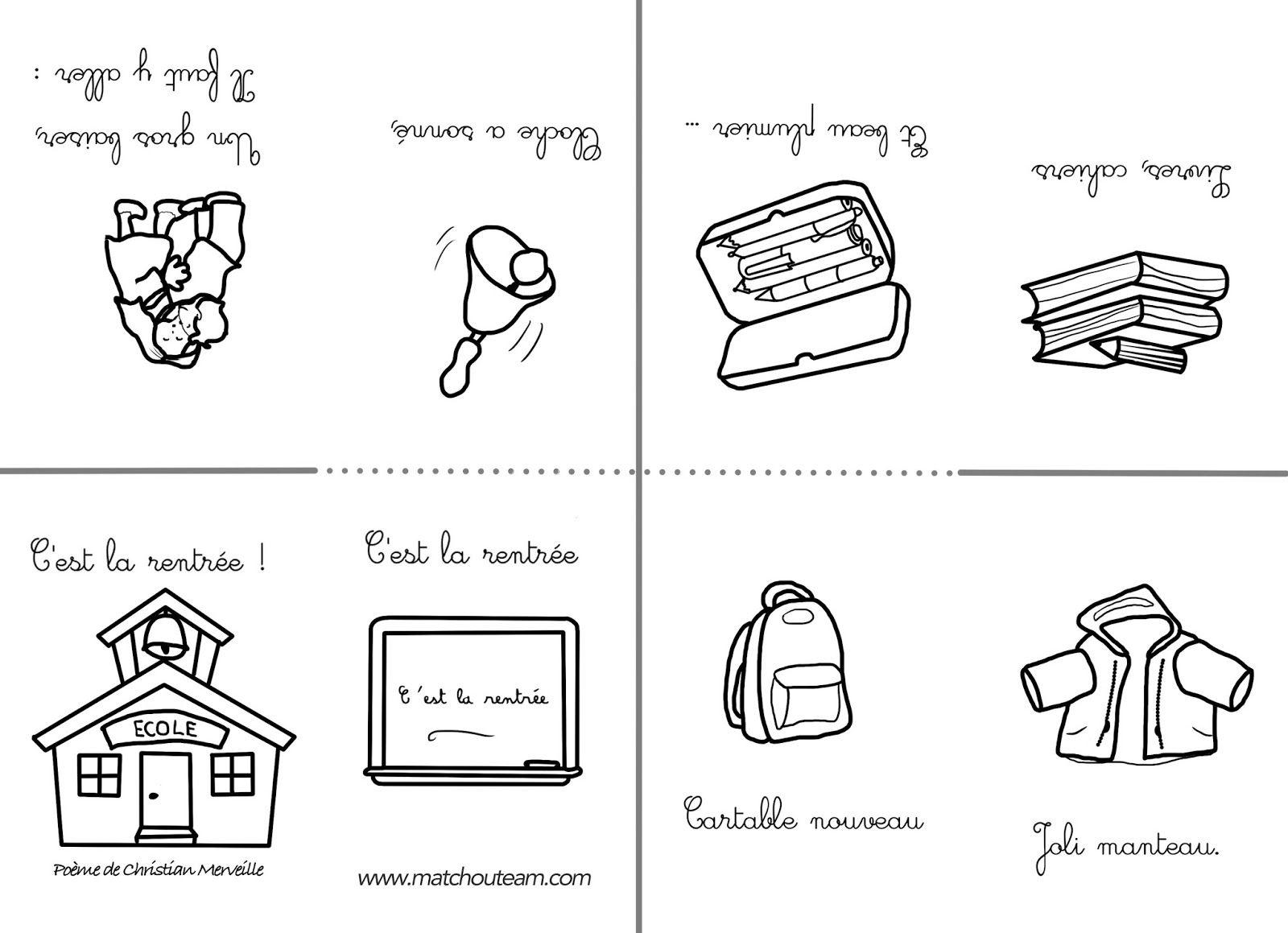 C Est La Rentree Le Mini Livre A Colorier