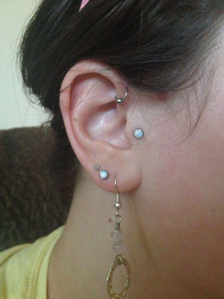Forward helix piercing Hoop  Ear Piercings  Pinterest  Helix