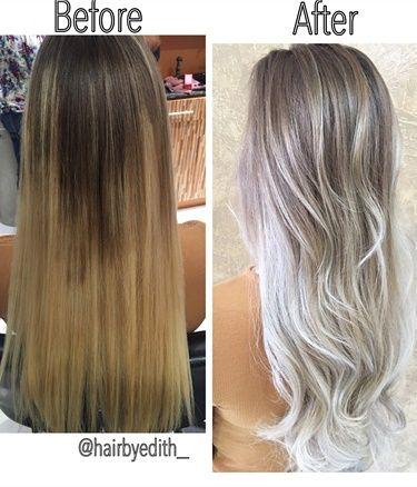 platinum hair vs gray hair dark brown hairs
