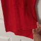 Red dress with lace detail on back d forever and on back