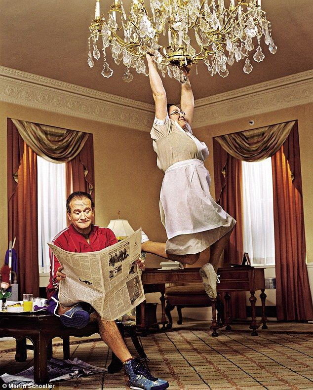 Getting The Swing Of It Robin Williams Martin Schoeller