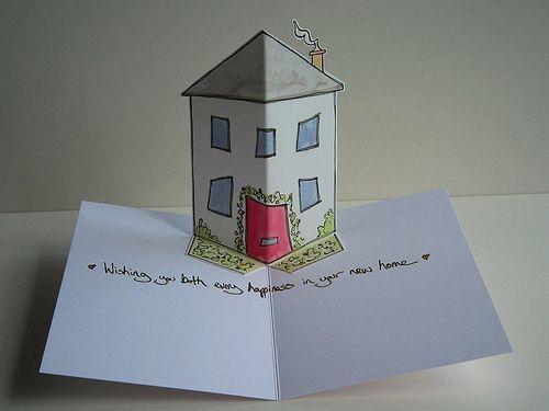 New Home Pop Up Drawing Karten Einzug Und Geschenk