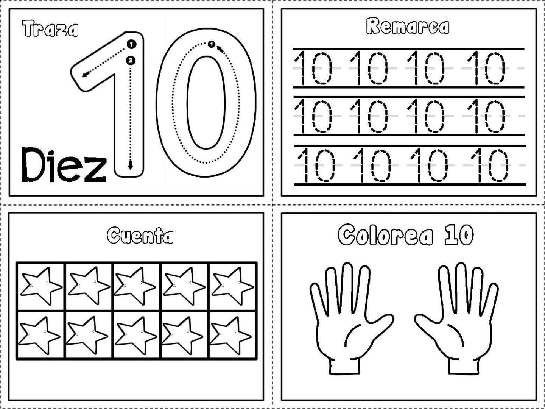 Grafomotricidad Numeros Del 1 Al 10 10