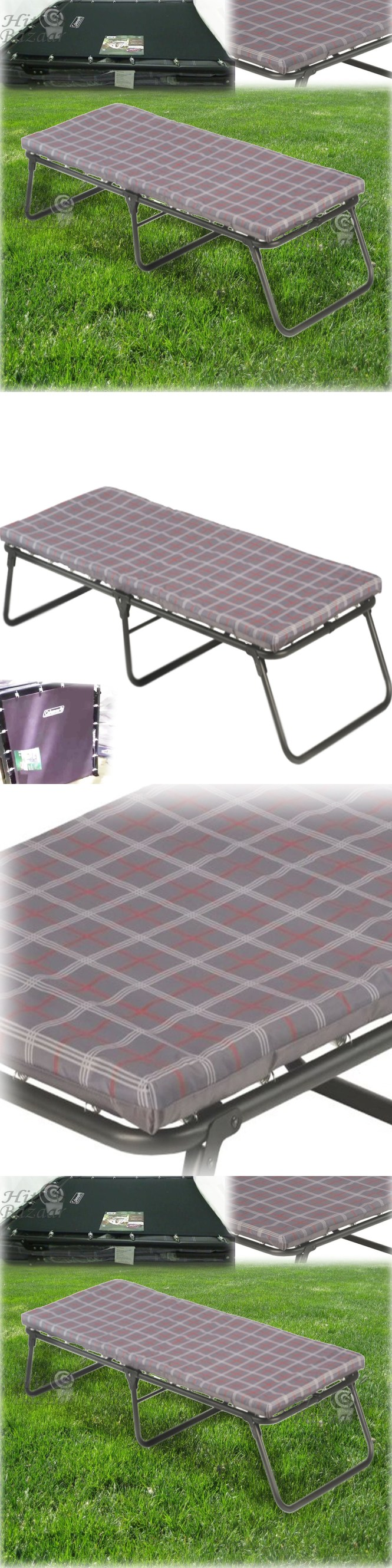 Cots 87099 Camping Cot Folding Bed Portable Sleeping Outdoor Foam Mattress Pad Sleepover