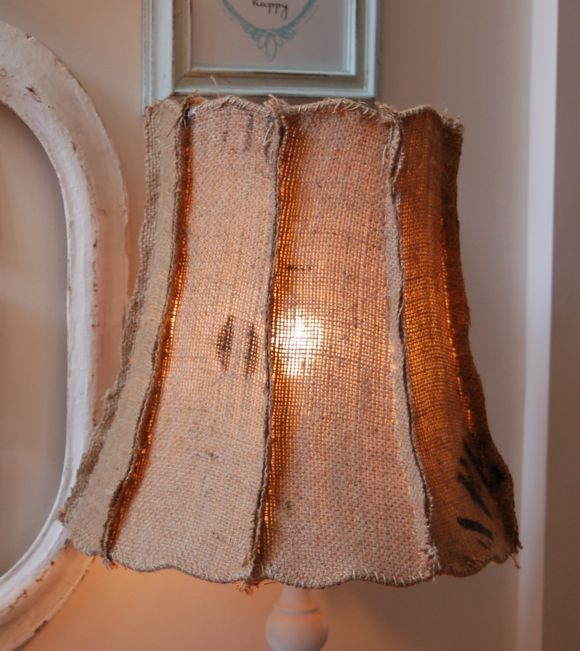 Burlap Lamp Shade Great Form Love The Outside Seams