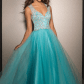 Authentic new clarisse turquoise prom gown condition new