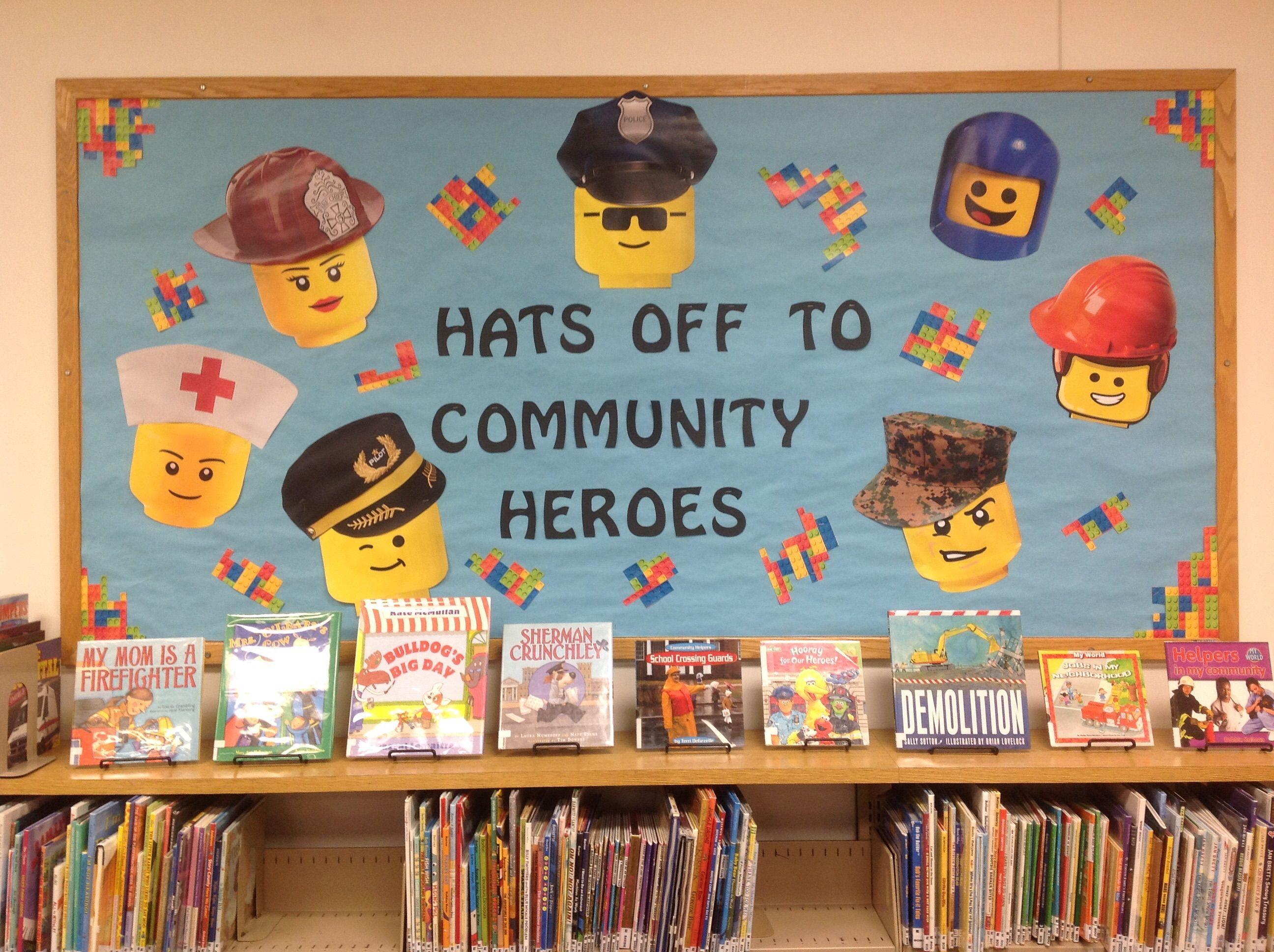 A Board Of Lego Community Heroes Includes Fireman Nurse
