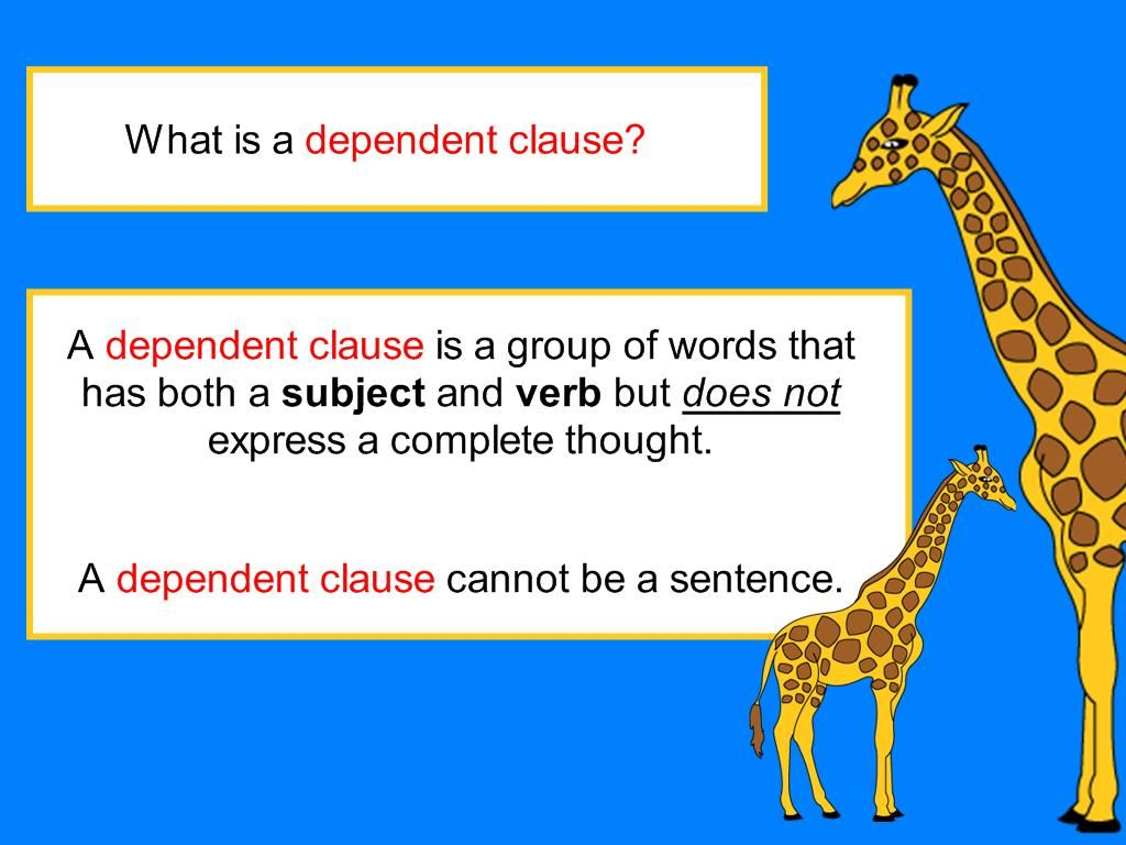 Dependent Clause Digicore