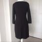 Boatneck little black dress sleeve keys and dress black
