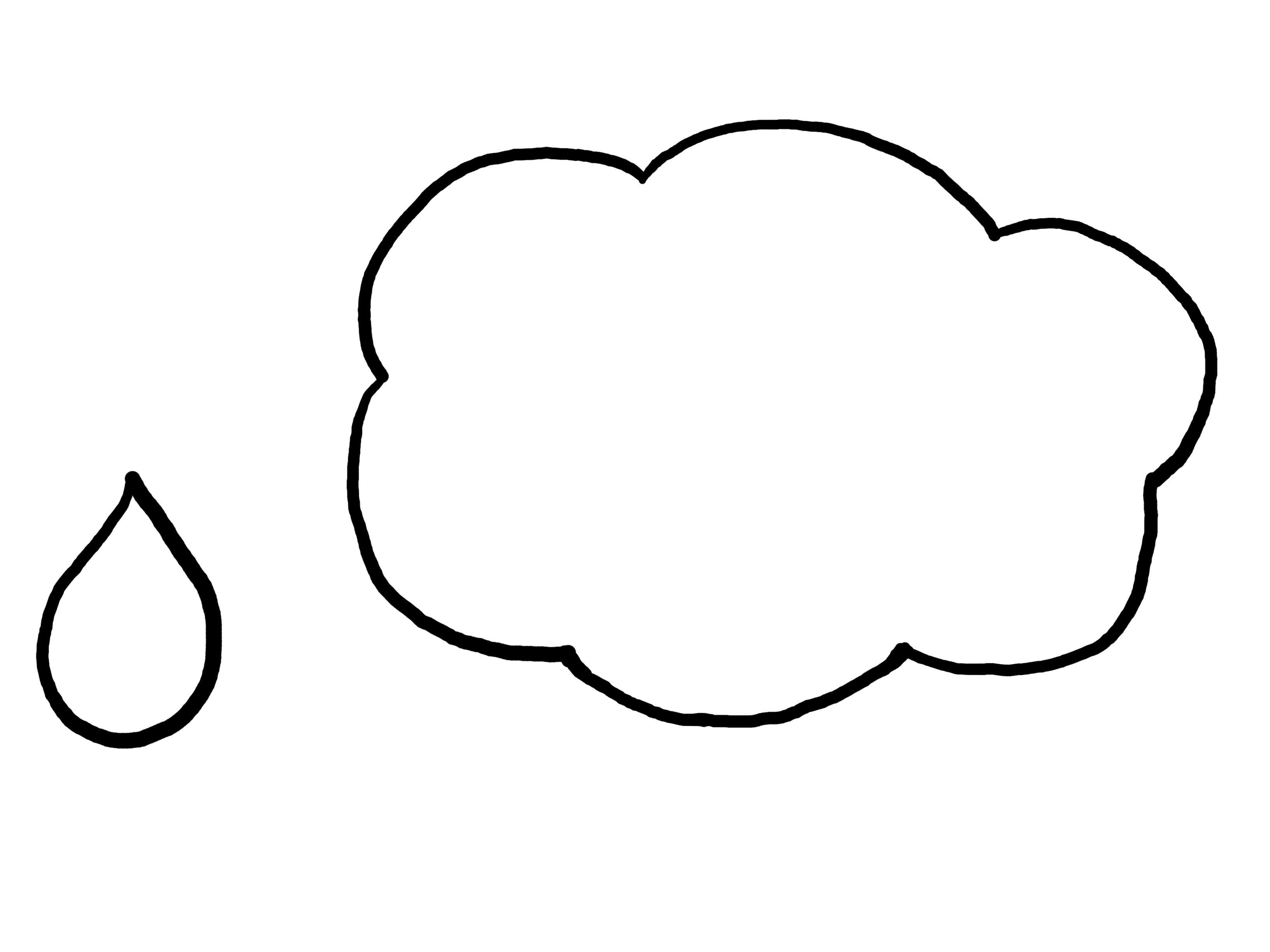 Cloud Raindrop Template