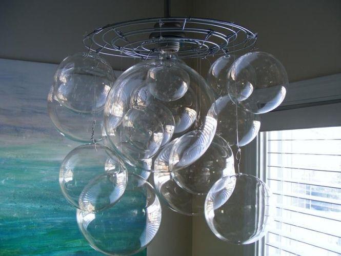 Bubble Ball Chandelier Light Fixture 350 00 Via Etsy