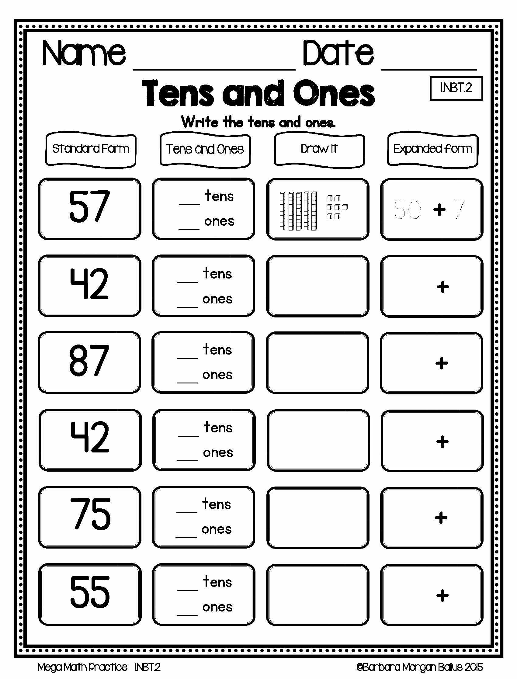 Freebie Preview First Grade Mega Math Practice Young