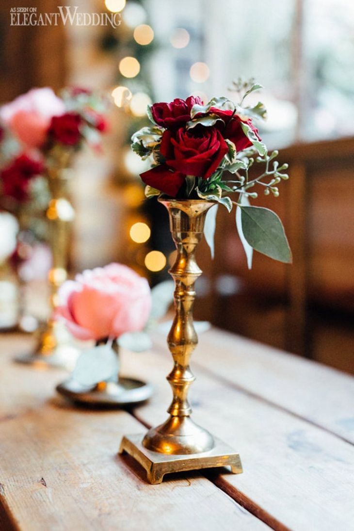 Winter wedding florals and decor  VINTAGE s CHRISTMAS WEDDING