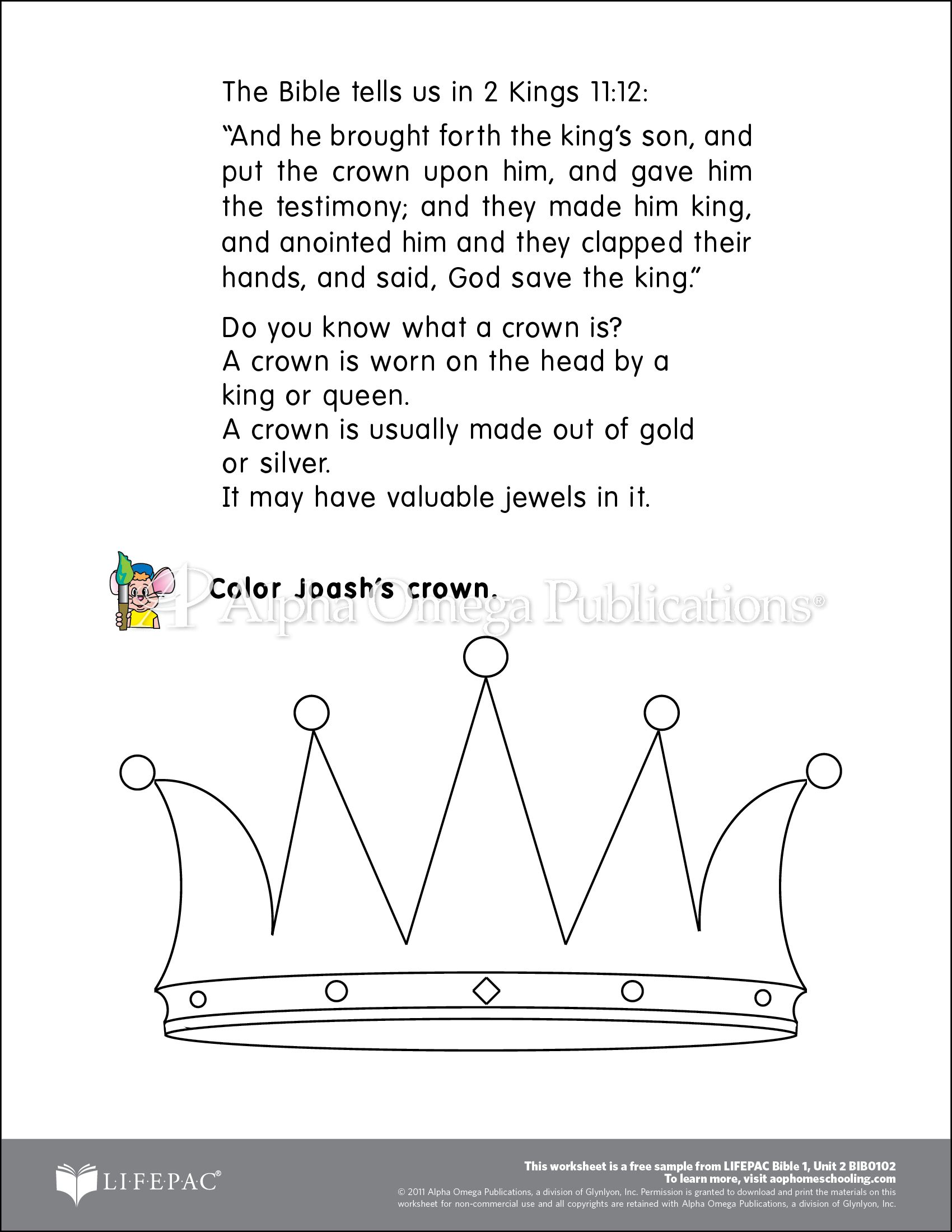 Aop Lifepac Free Printable Worksheet Sample Page Download For Homeschooling From Alpha Omega