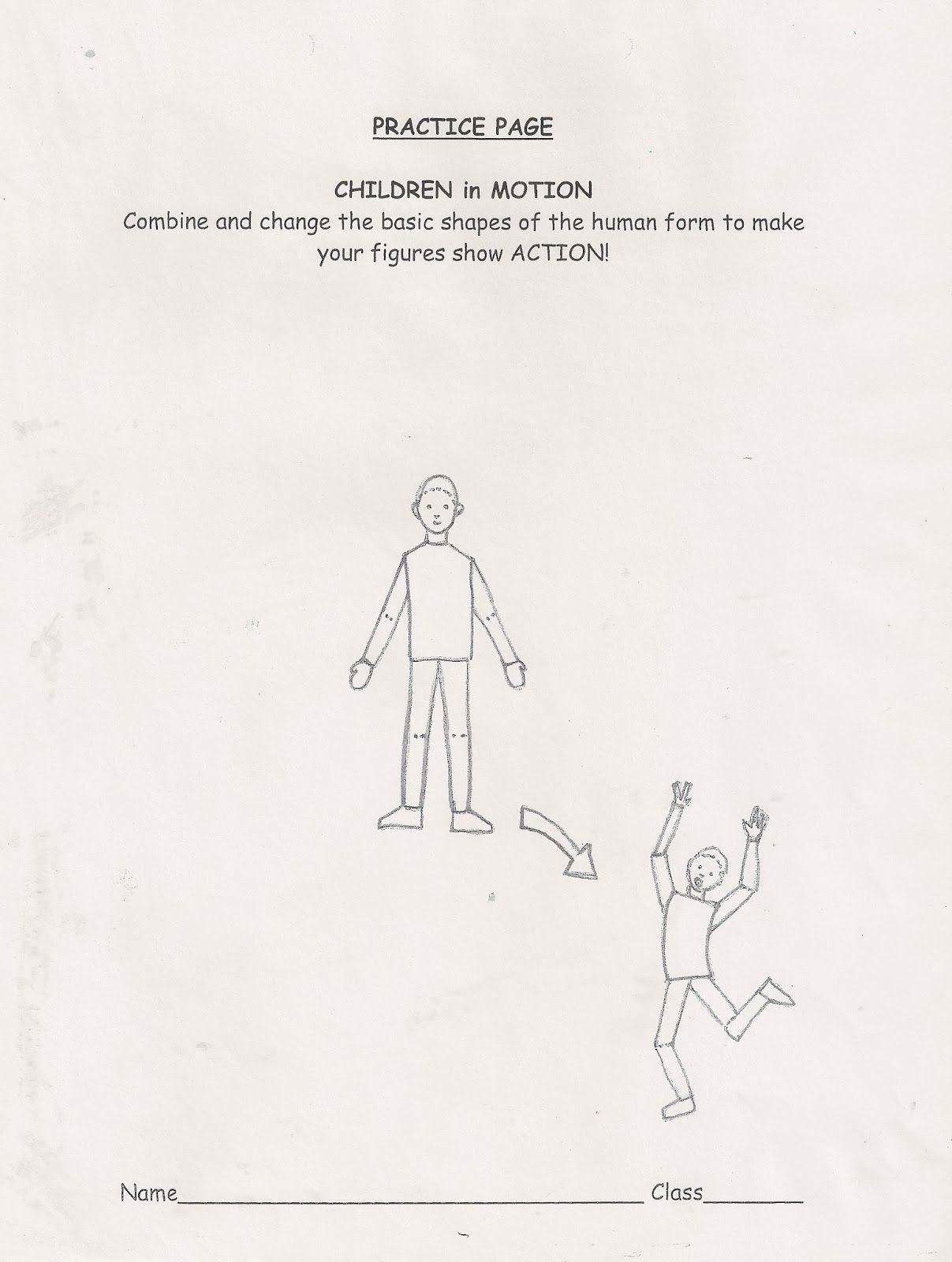 Practice Page Children In Motion How To Draw Kids In