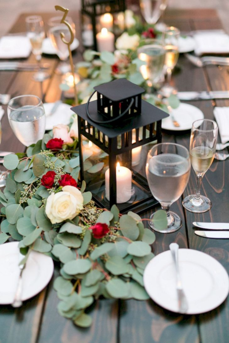 Awesome Lantern Greenery Wedding Centerpiece Ideas Wedding