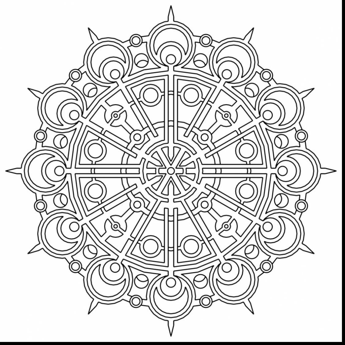 Unbelievable Geometric Mandala Coloring Pages With Geometry Coloring Pages And Geometry Coloring
