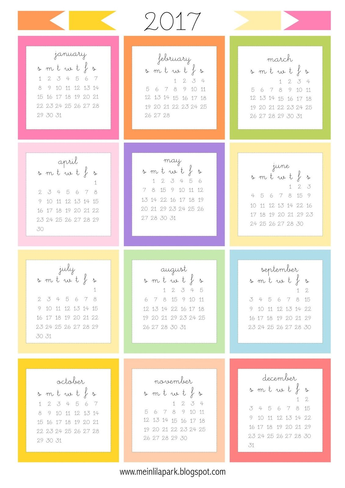 Today I Created Free Printable Calendar With Each Month As A Mini Card For You The Monthly