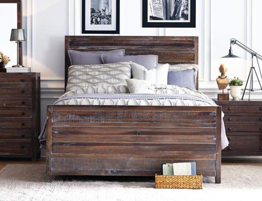 townsend queen bed - art van furniture | b.s. & more | pinterest