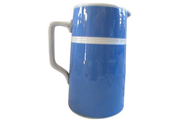 english cornishware quart pitcher on onekingslane com i have the same jug 20us bargain on kitchen decor pitchers carafes id=15644