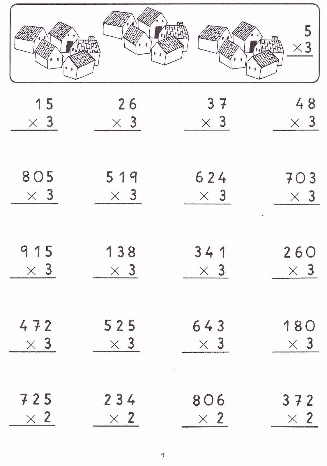 Fichas Con Ejercicios De Multiplicaciones Por Una Cifra