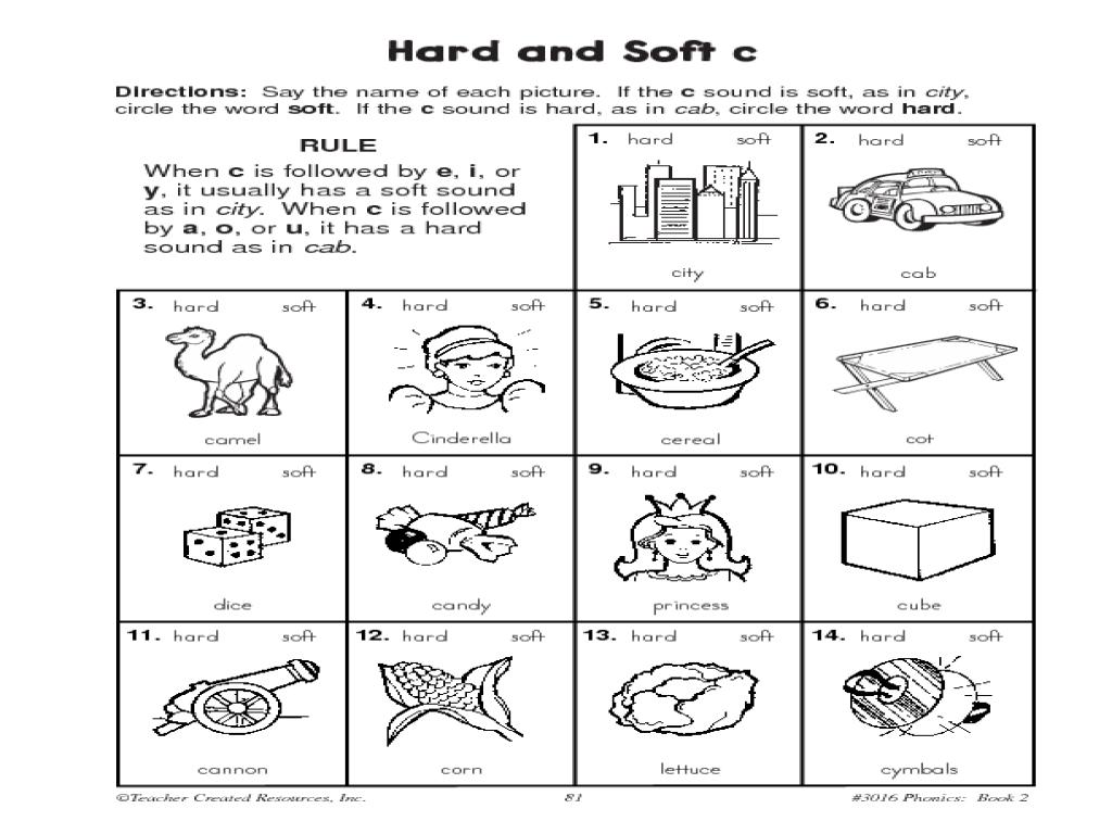 Short Vowels Hard And Soft C Practice Worksheet