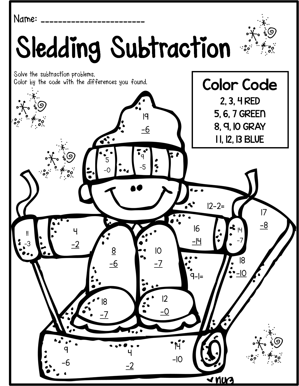 Winter Math Amp Literacy Print And Go 2nd Grade Ccss