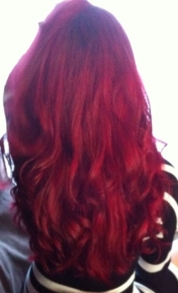 Red Hair LOreal Hicolor Magenta Makeup Hair