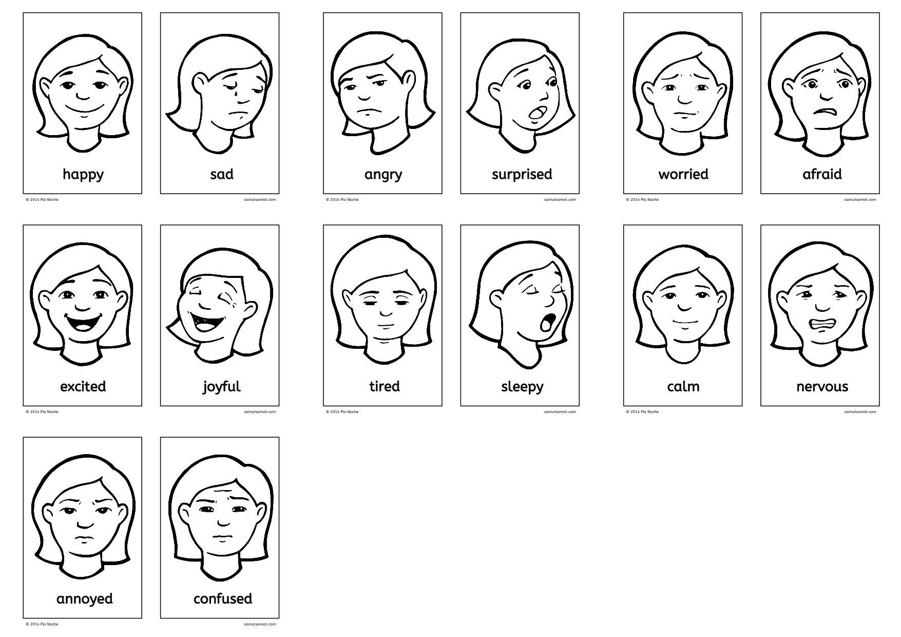 Vocabulary Of Feelings Esl Worksheets