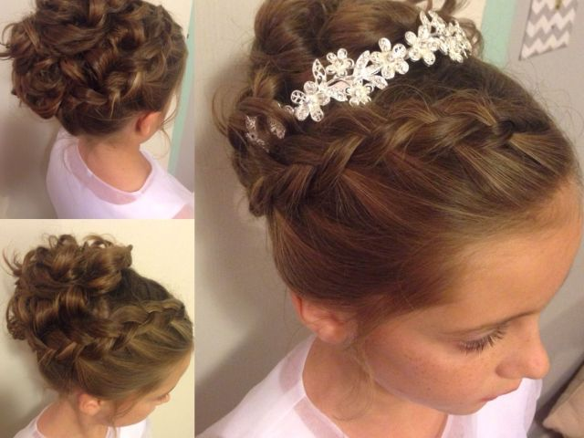little girl updo. wedding hairstyle instagram: @camfamsisters