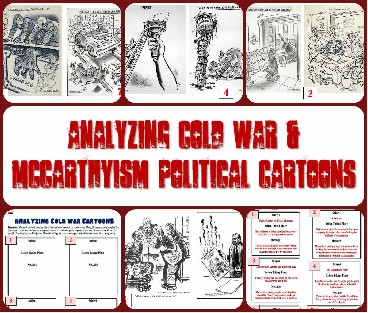 Yzing Cold War Amp Mccarthyism Political Cartoons