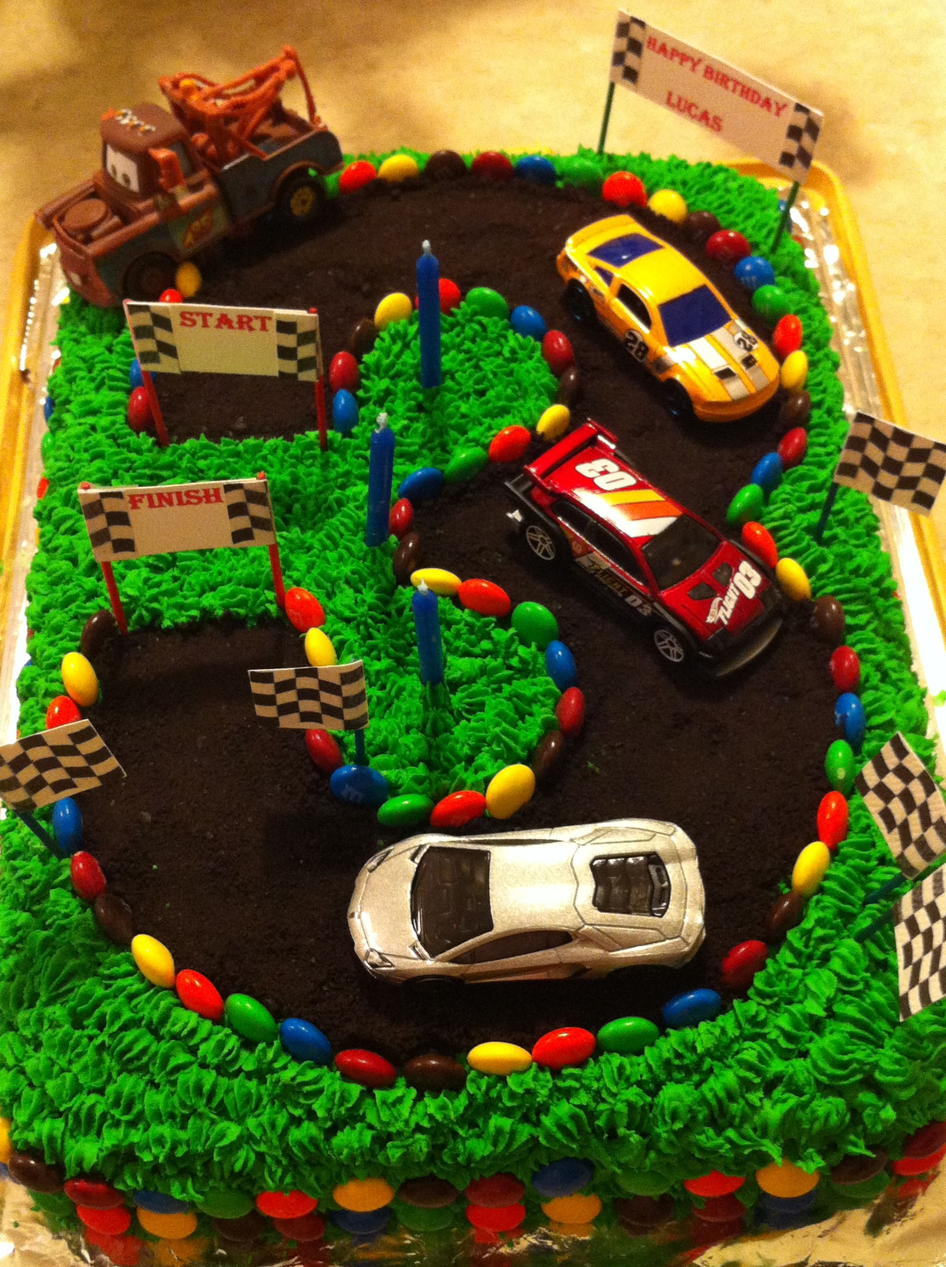 3rd Birthday Cake Race Car Track