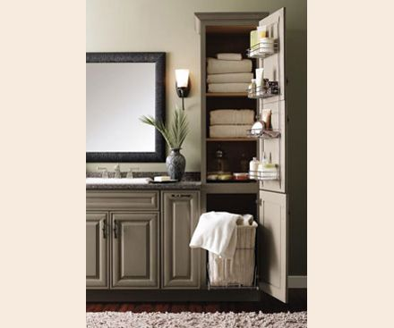 pull out hamper for narrow laundry closet | mudroom/laundry