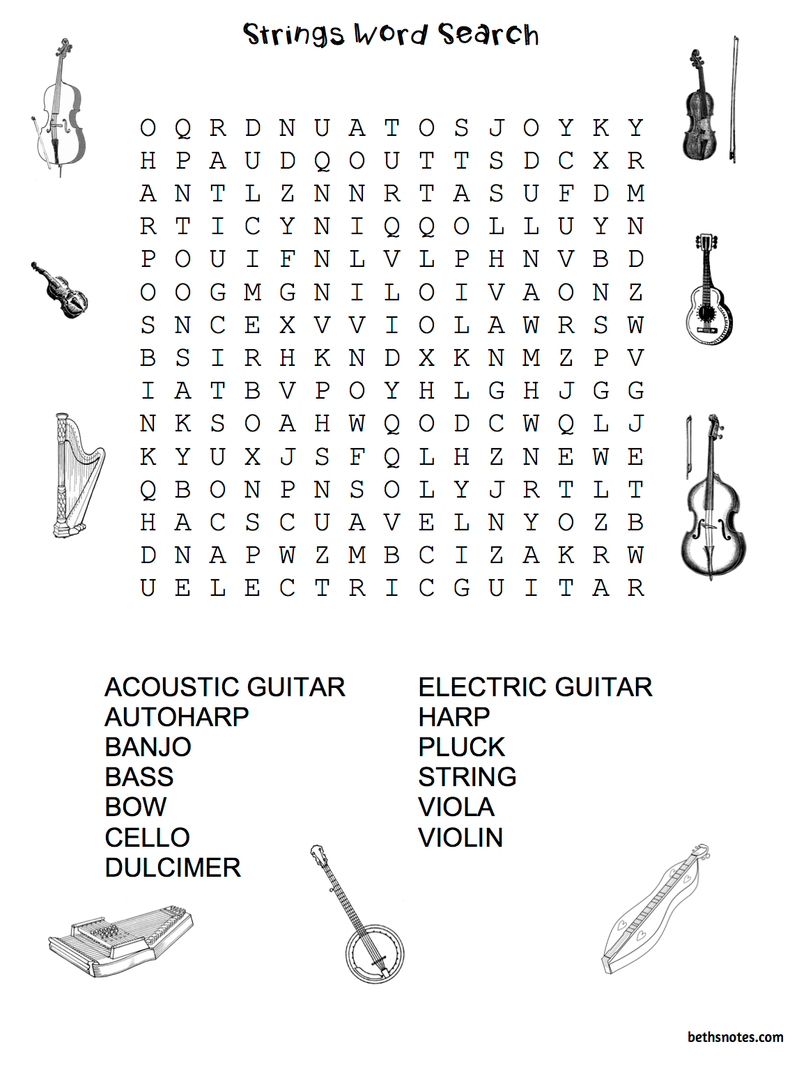 Beth S Music Notes Orchestra Worksheets And Pictures Sub