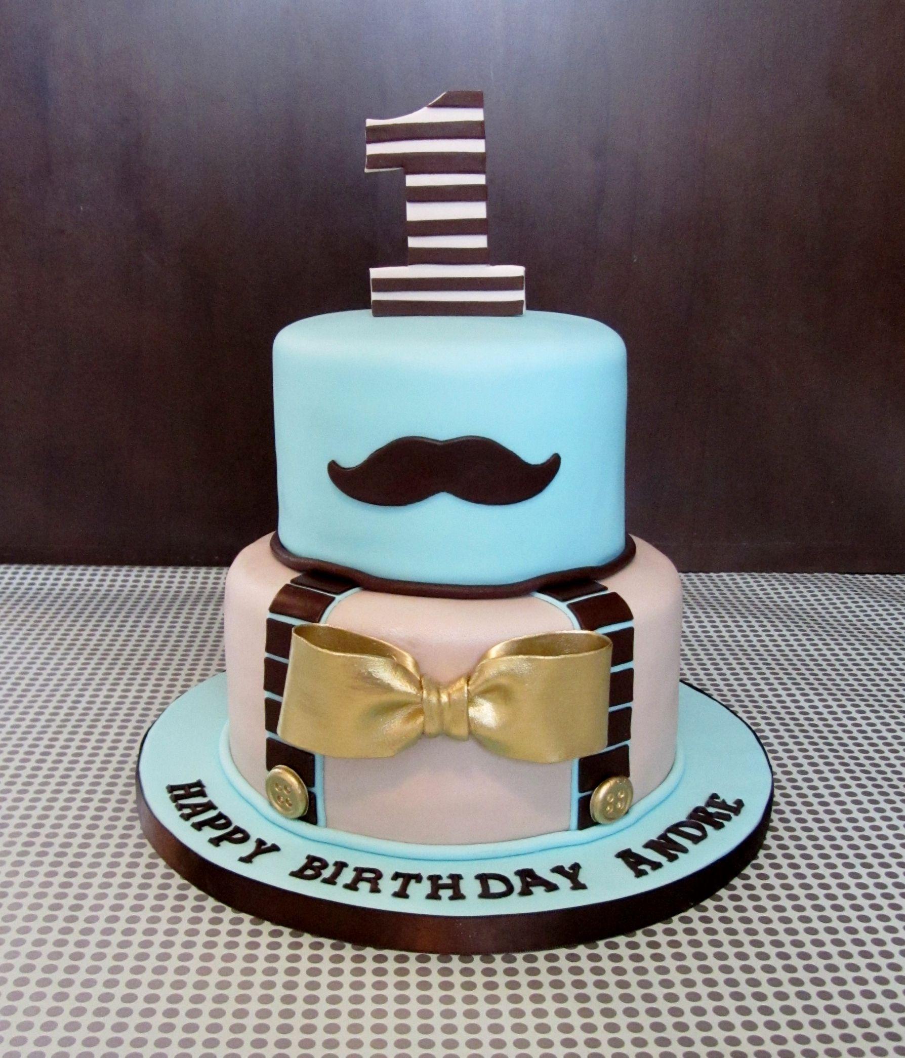 Little Man Birthday Cake
