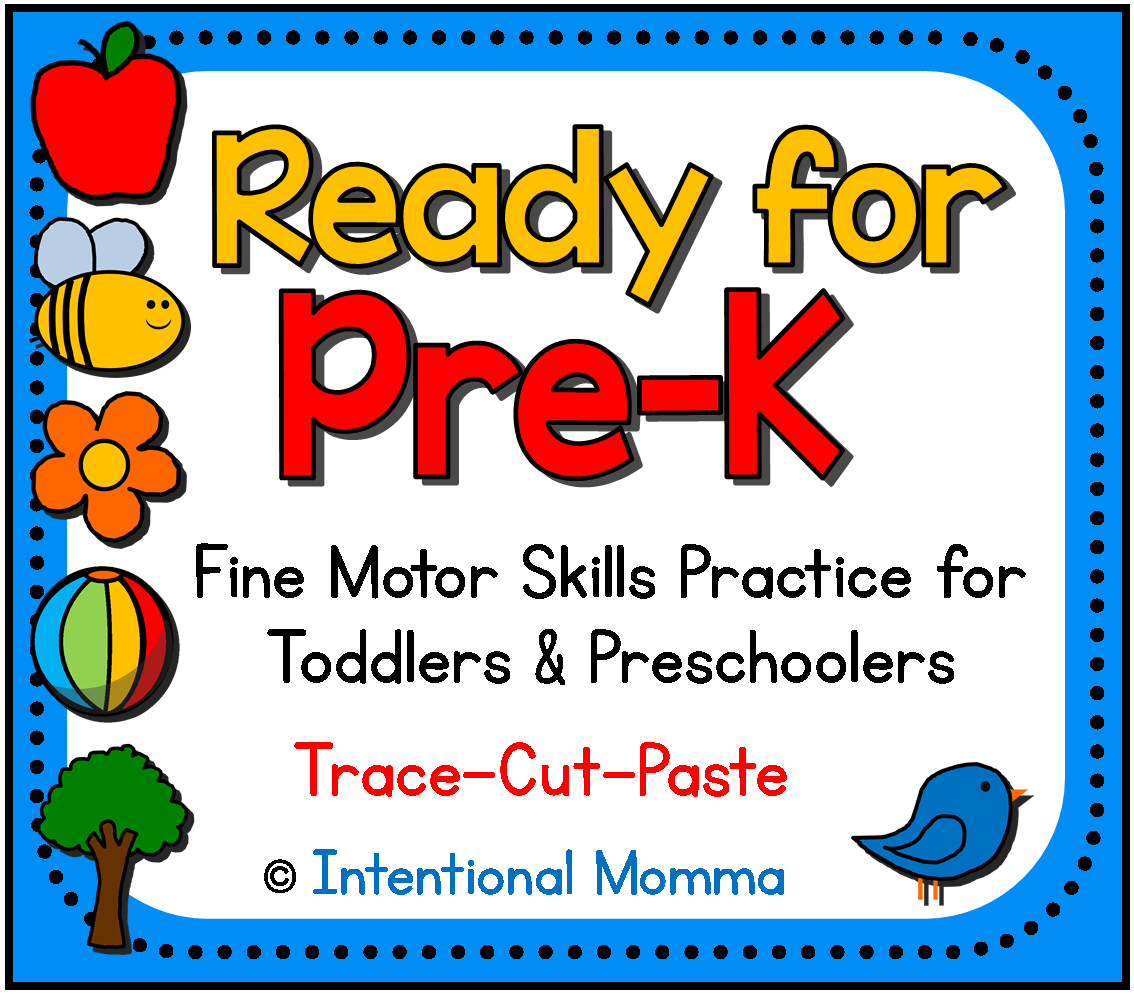 Preparing Toddlers And Preschoolers For Pre K Readiness Including Tracing Cutting And Pasting