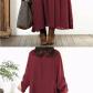 Women vintage baggy cotton long sleeve loose maxi dresses clothing