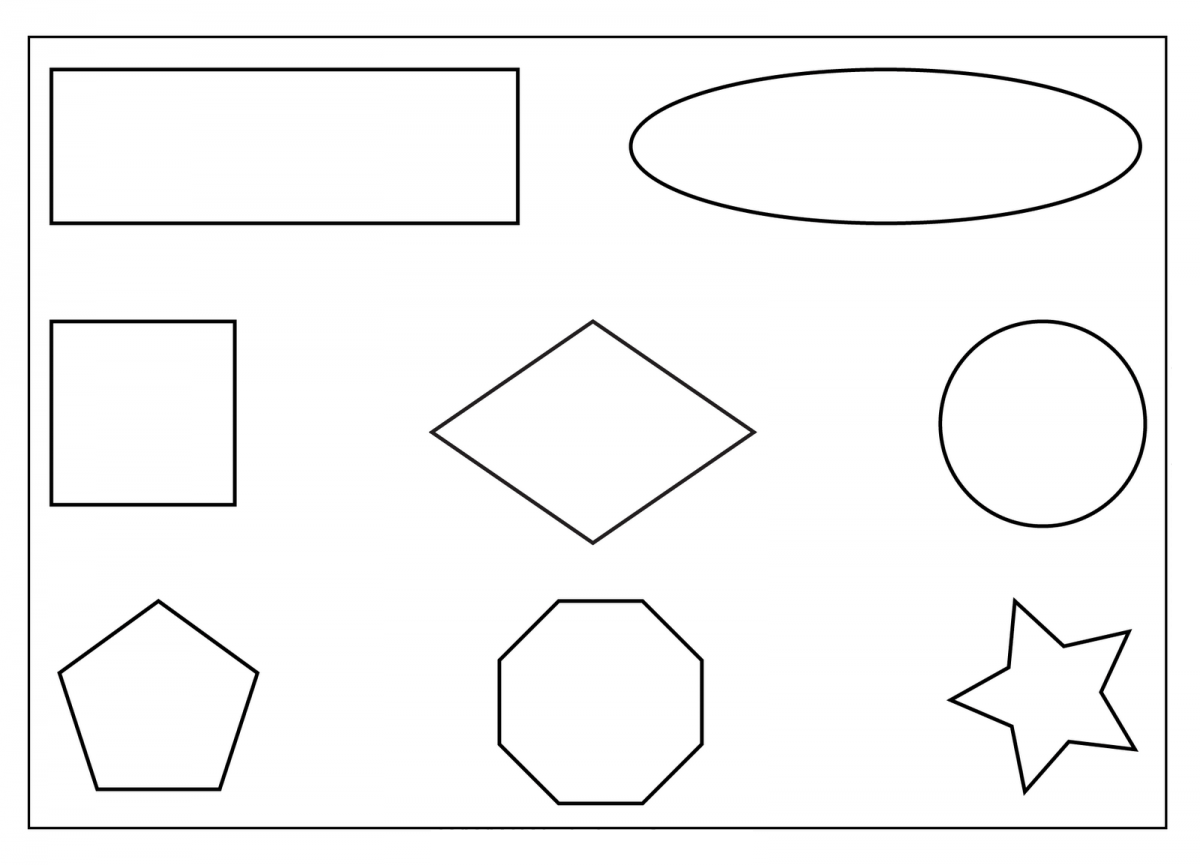 Printable Preschool Worksheets Shapes Tagged With Diamond Shape Coloring Page
