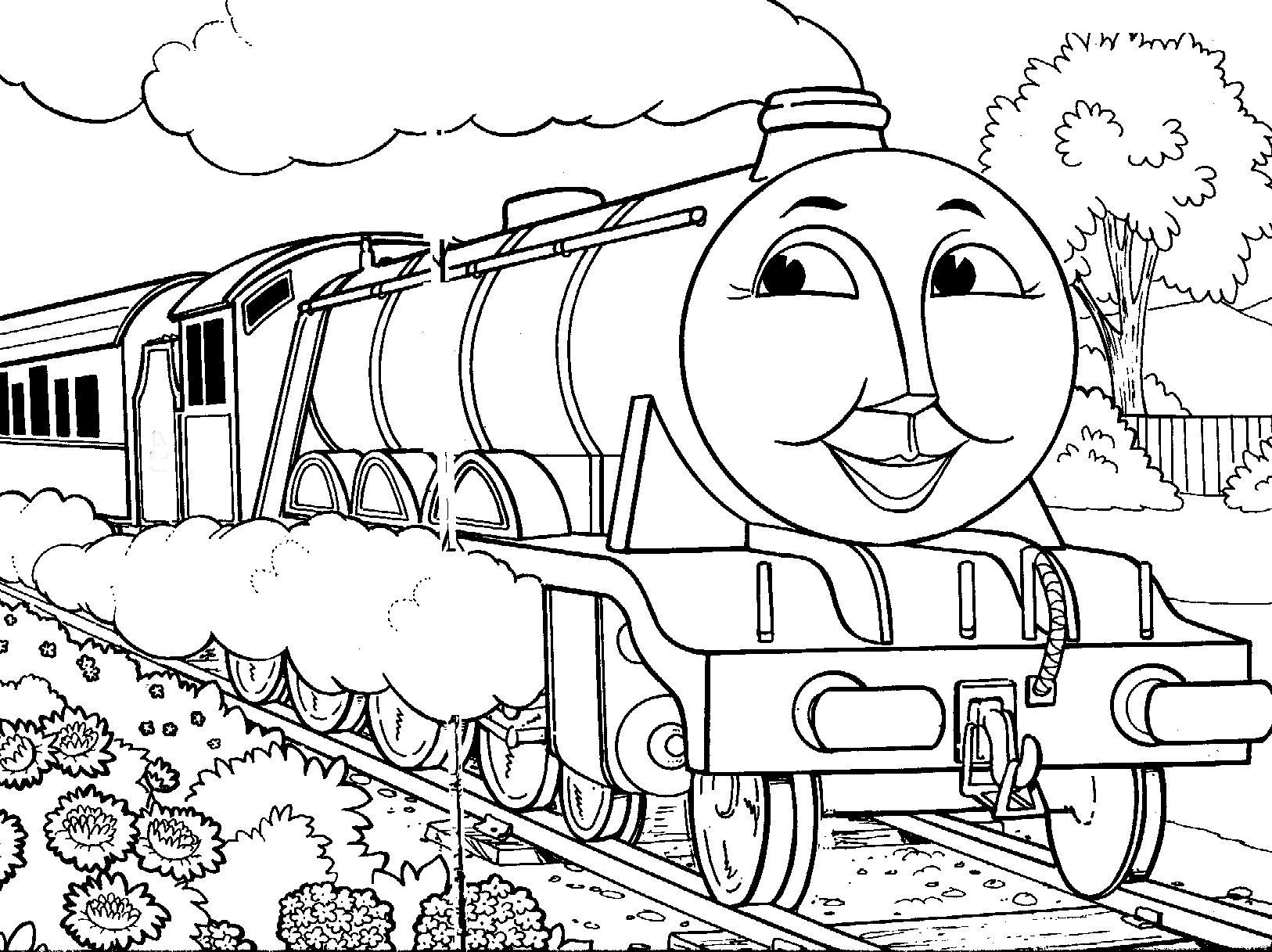 Thomas The Tank Engine Coloring Pages Gordon Thomas The