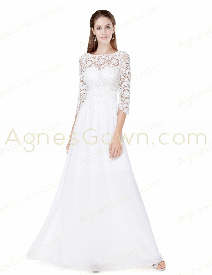 Sleeves Beach Wedding Dress With Lace  Wedding  Pinterest