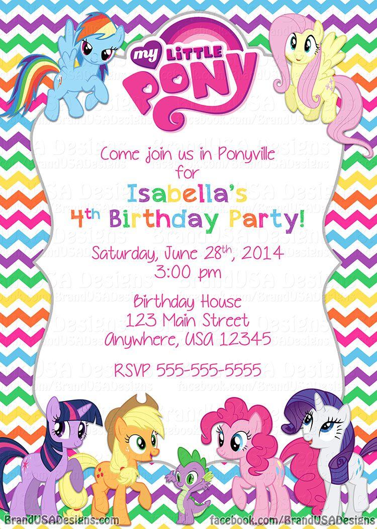 my little pony invitations printable free | Invitationjpg.com