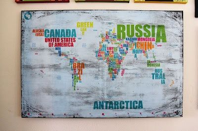 Word map world map    ArtsyFartsy   Pinterest   Word map and Spaces Word map world map