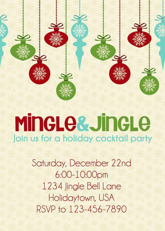 Christmas Holiday Party Invitation Mingle Amp By