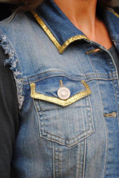 """Résultat de recherche d'images pour """"customiser veste en jean"""""""