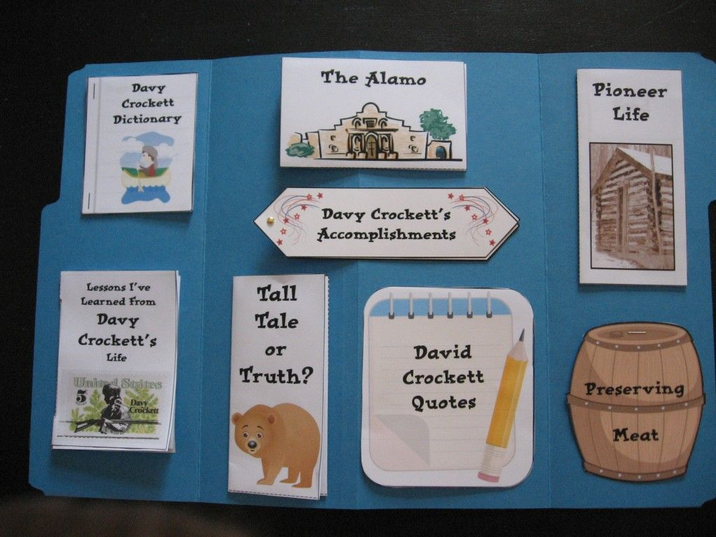 Davy Crockett Lapbook From The Davy Crockett Download N Go
