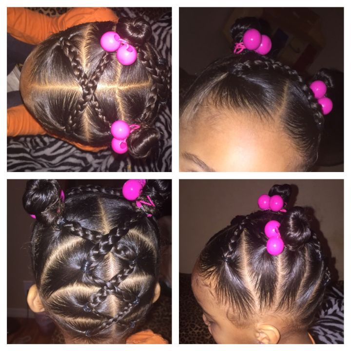 Mixed girl hairstyles