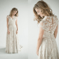 Vintage lace dress wedding  Simple ivory lace dress with cap sleeves  my dress  Pinterest