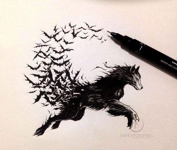 Vampire Wolf   By kerbyrosanes ::::: Check him out here:http://kerbyrosanes.deviantart.com/