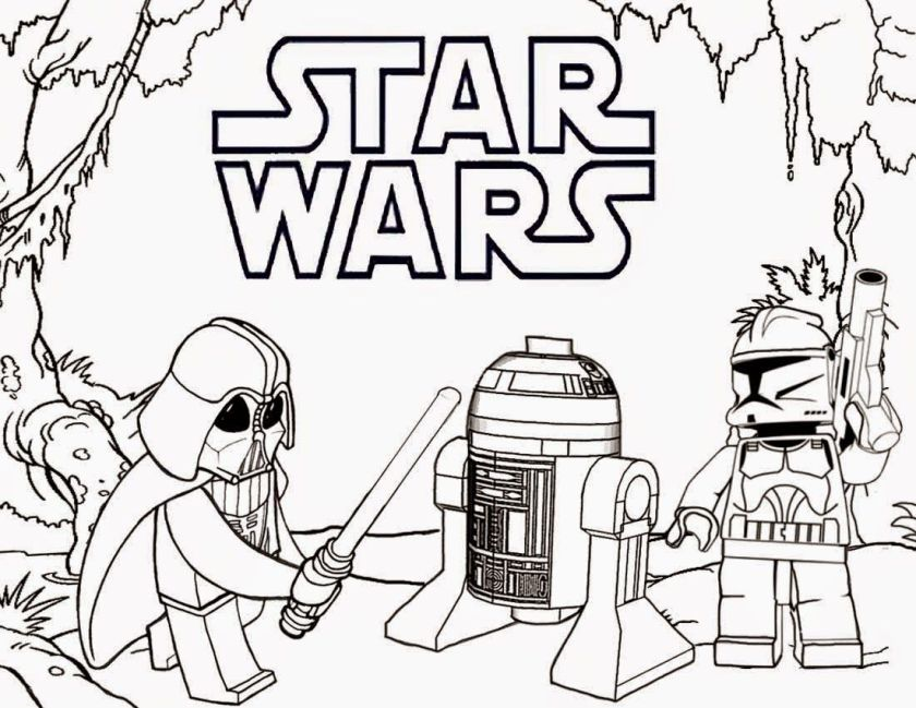 printable lego coloring pages star wars  silhouette