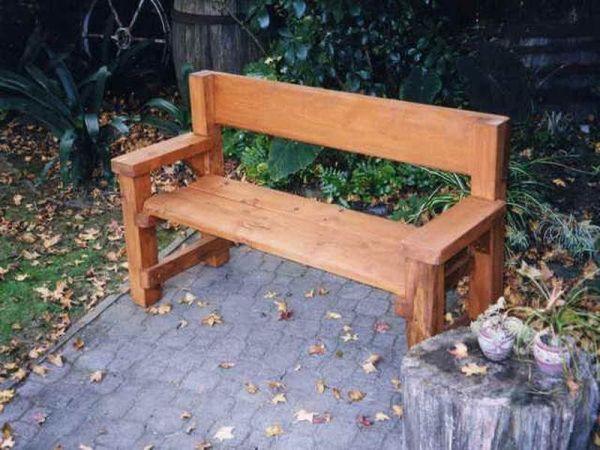 pinterest garden bench ideas wooden bench homemade - Google Search | Stomp the yard